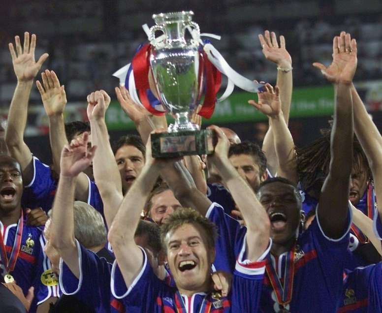 France's Euro 2000 is France's best ever team, according to 'France Football'. AFP