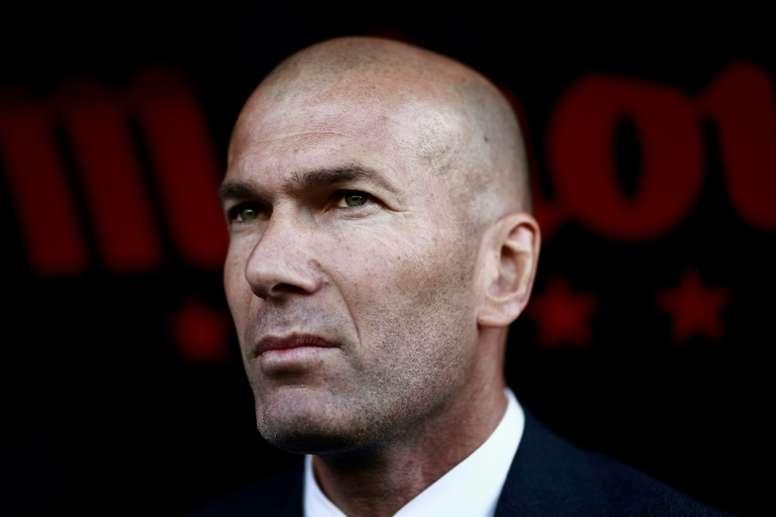 Zidane, satisfecho con el rendimento de los jóvenes. AFP