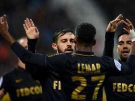 O Monaco venceu o Nacy por 3-0 na 36ª ronda da Ligue 1. AFP