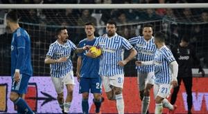 La Spal, équipe de Serie B, en quarts contre la Juventus. afp