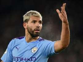 Manchester City laissera partir Agüero si la sanction est confirmée. AFP