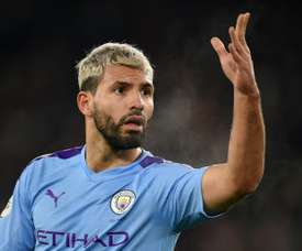 Aguero will see out the rest of his contract at Man City. AFP