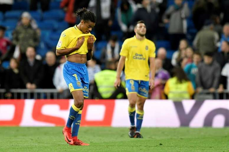 L'attaquant français de Las Palmas lors d'un match de Liga face au Real Madrid. AFP