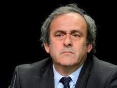 Michel Platini trainé en justice par la Fifa. AFP