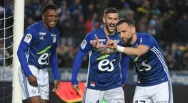 Compos officielles Strasbourg-Guigamp, Ligue 1, J32, 13/04/2019. AFP