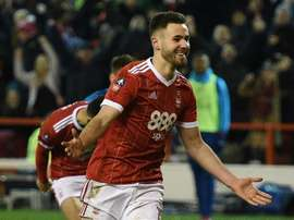 Ben Brereton is on his way out of Nottingham Forrest. AFP