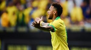gol mais bonito de Neymar pelo Brasil é escolhido. AFP