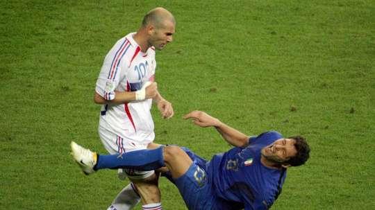 Materazzi fala sobre episódio emblemático com Zidane. AFP