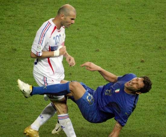 Materazzi rivela le parole che disse a Zidane. AFP