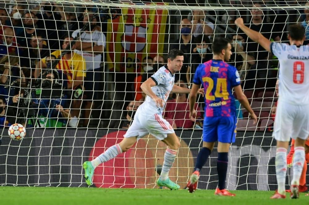 El Barça cayó por 0-3 ante el Bayern. AFP