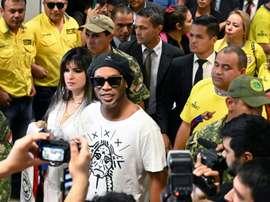 Jorge Valdano defended Ronaldinho. AFP