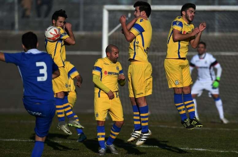 Les joueurs de Canelas lors dun match contre Candal, le 8 janvier 2017 à Vila Nova de Gaia. AFP