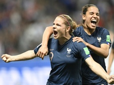 Les Bleues se sont imposées 2-1 face à la Norvège. AFP