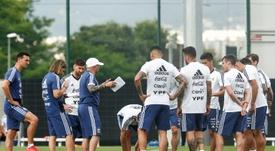 Les joueurs argentins n'iront pas en Israel. AFP