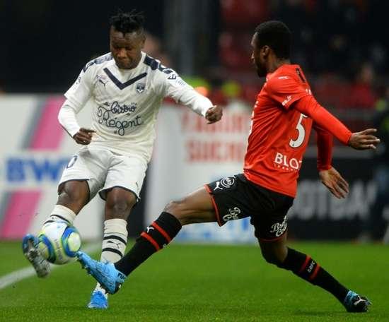 Le Nigérian Kalu pas encore rentré à Bordeaux. afp