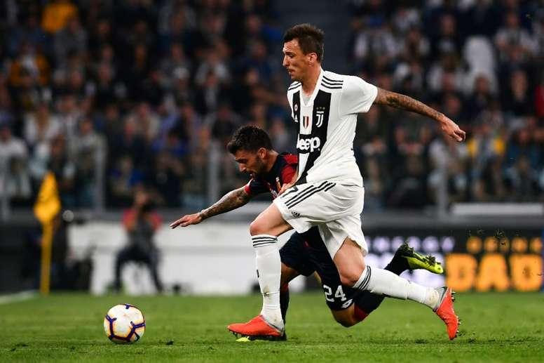 Mandzukic podría acabar en el Barcelona. AFP