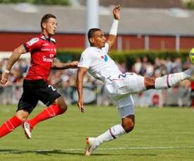 Le défenseur central de Caen Alexander Djiku. AFP