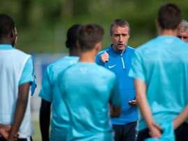 Jean-Claude Giuntini, alors sélectionneur des U17 français en 2015. AFP