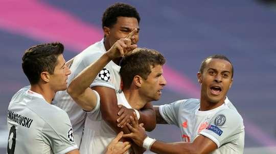 Thomas Müller a allumé le feu contre Barcelone. AFP