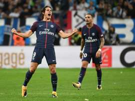 Cavani impediu a derrota do PSG. AFP
