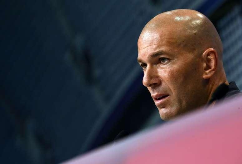 Zinédine Zidane en conférence de presse. AFP