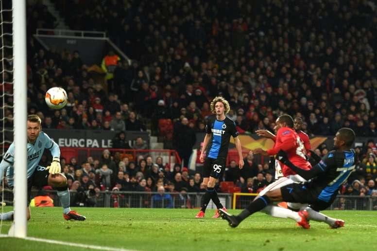 Manchester United n'aura eu besoin que de 45 minutes. AFP