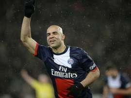 Le défenseur brésilien Alex sous les couleurs du Paris SG, contre Bordeaux le 31 janvier 2014. AFP