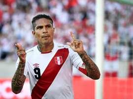 L'attaquant péruvien Paolo Guerrero buteur lors du match face à l'Arabie Saoudite