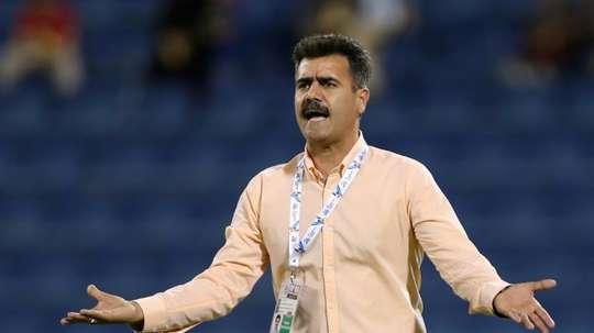 L'entraîneur d'Esteghlal, Sirous Pourmousavi, lors du match contre Al-Hilal. AFP
