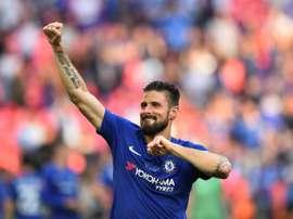 Lampard quer que Giroud fique no Chelsea. AFP