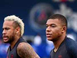 Agora que Neymar está bem, Mbappé é dúvida. AFP