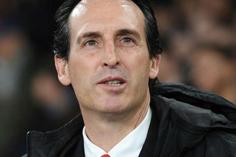 El calvario de Emery en el Camp Nou. AFP