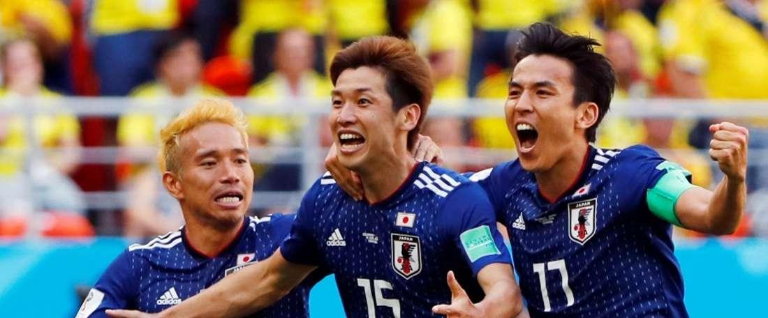 Le Japon, un exemple sur le terrain et dans les tribunes. AFP
