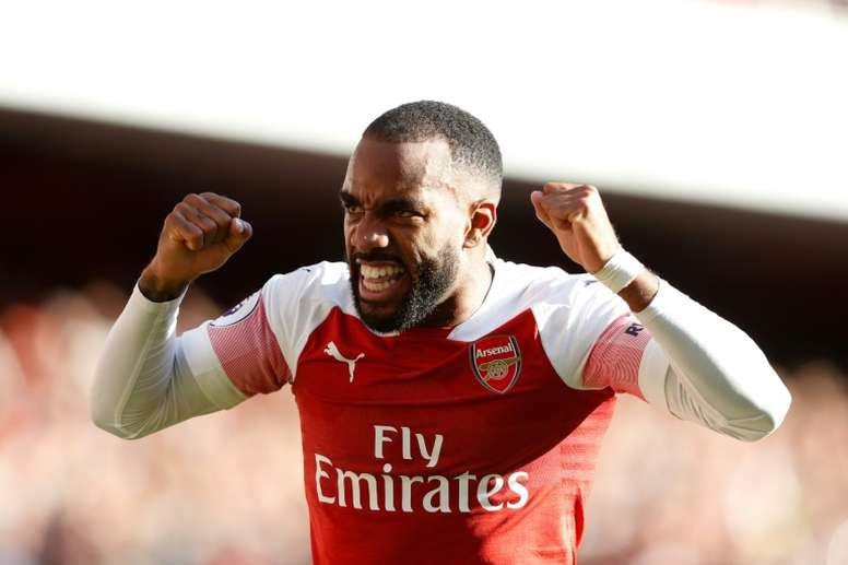 Lacazette has been in fine goalscoring form of late. AFP