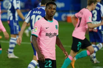 Barca intend to renew the contract of Ansu Fati. AFP