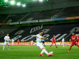 Cologne played a match behind closed doors before the corona stoppage. AFP