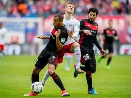Empate frente ao Ingolstadt 04 compromete título para o RB Leipzig. AFP
