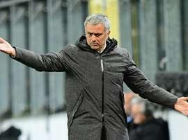 O técnico português voltou a queixar-se da onde de lesões que tem assolado os 'red devils'. AFP