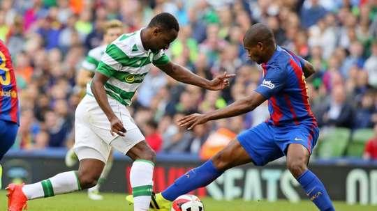 El delantero del Celtic, KO. AFP