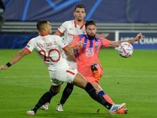 Avec Chelsea comme en Bleu, Giroud pique la concurrence. AFP