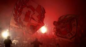 Cinq joueurs de l'Etoile rouge de Belgrade positifs au coronavirus. AFP