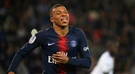 Kylian Mbappé auteur dun doublé lors de la victoire 4-0 à domicile sur Dijon. AFP
