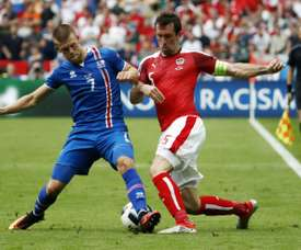 The winger is a key part of the Icelandic team. AFP