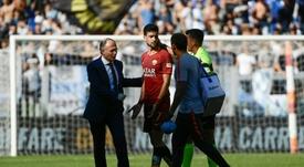 Pastore no estará ante el Viktoria Plzeň. AFP