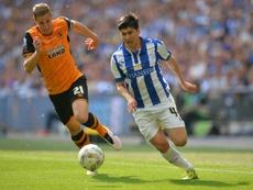 Wednesday Fernando Forestieri contre Hull City, le 28 mai 2016 au stade de Wembley à Londres. AFP