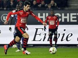 Gourcuff dio el triunfo al Rennes. AFP