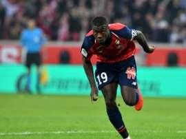 Nicolas Pépé, buteur avec Lille contre le SCO d'Angers à Villeneuve-d'Ascq. AFP