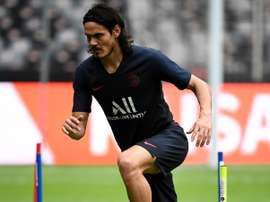 Cavani suffered an injury v Toulouse. AFP