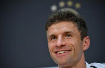 Thomas Müller le marcó siete goles al Barça en siete encuentros. AFP