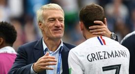 Griezmann pidió consejo a Deschamps antes de tomar una decisión. AFP